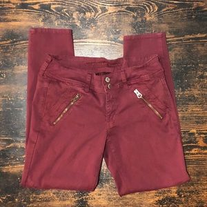 American Eagle skinny crop moto pants size 6